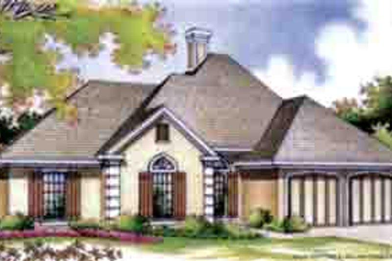 European Exterior - Front Elevation Plan #45-256 - Houseplans.com