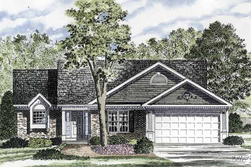 Ranch Exterior - Front Elevation Plan #316-178