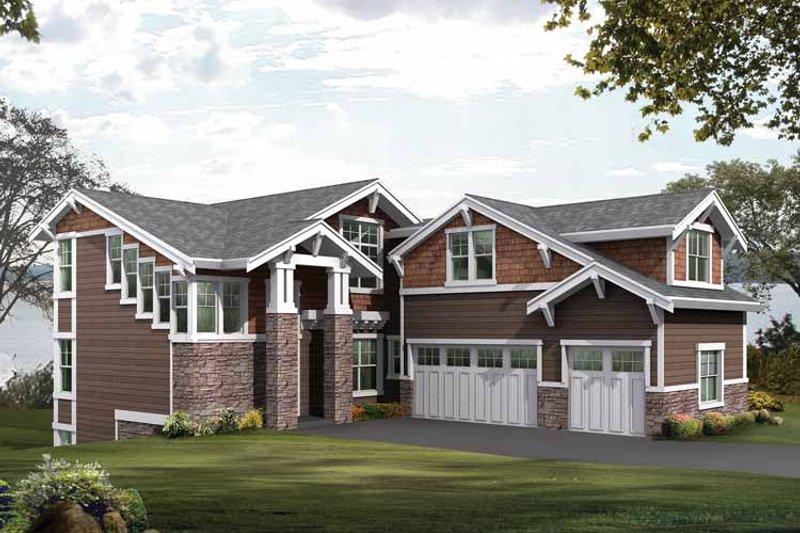 Craftsman Exterior - Front Elevation Plan #132-479