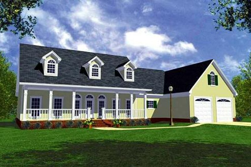 Home Plan - Farmhouse Exterior - Front Elevation Plan #21-154