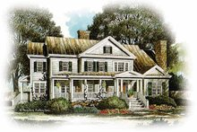 Home Plan - Country Exterior - Front Elevation Plan #429-330