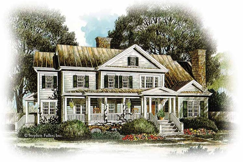 Country Exterior - Front Elevation Plan #429-330