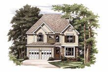 House Plan Design - Colonial Exterior - Front Elevation Plan #927-708