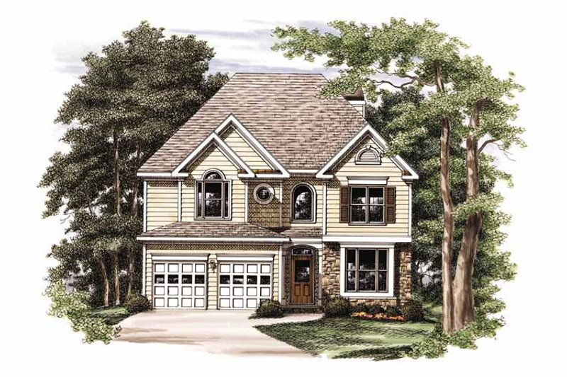Colonial Exterior - Front Elevation Plan #927-708