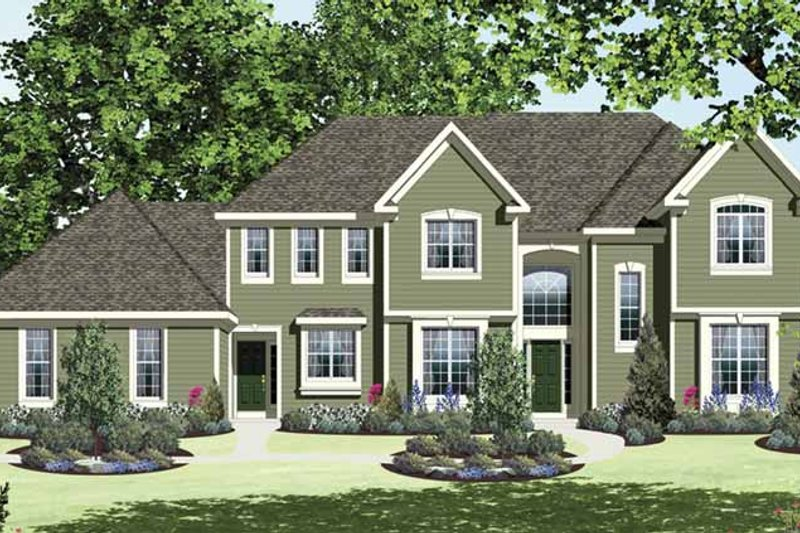 Dream House Plan - Traditional Exterior - Front Elevation Plan #328-465