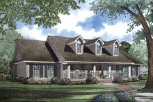 Classical Exterior - Front Elevation Plan #17-2898