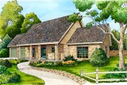 Ranch Style House Plan - 3 Beds 2 Baths 1507 Sq/Ft Plan #140-122 Exterior - Front Elevation