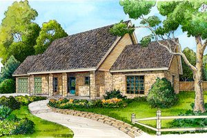 Ranch Exterior - Front Elevation Plan #140-122