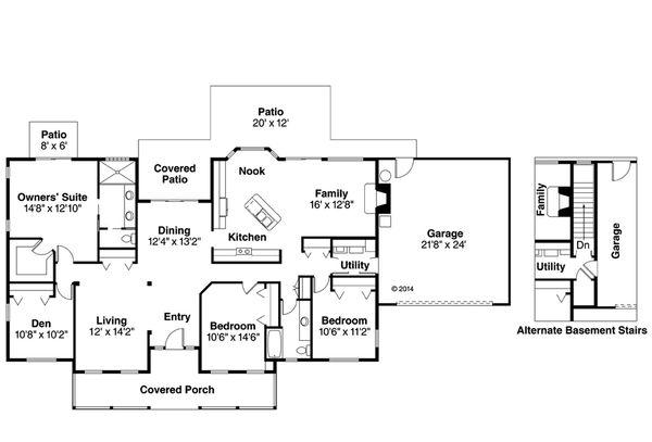 House Plan Design - Farmhouse Floor Plan - Main Floor Plan #124-369