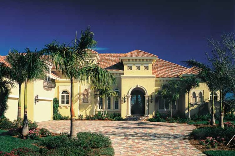 Mediterranean Exterior - Front Elevation Plan #930-311 - Houseplans.com