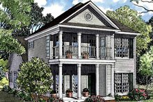 Classical Exterior - Front Elevation Plan #17-3095