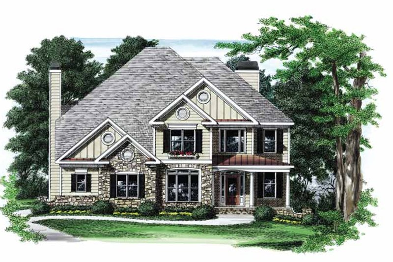 Country Exterior - Front Elevation Plan #927-774