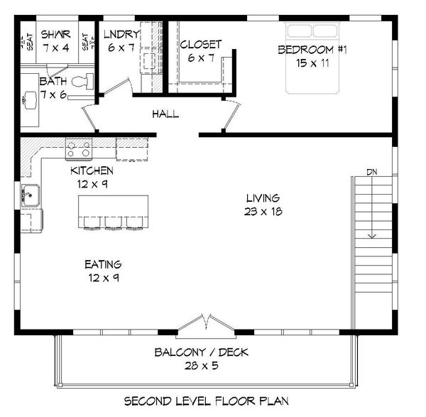 Contemporary Floor Plan - Main Floor Plan Plan #932-149