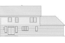 House Plan Design - Traditional Exterior - Rear Elevation Plan #46-800