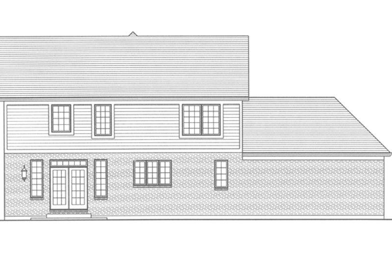 Traditional Exterior - Rear Elevation Plan #46-800 - Houseplans.com