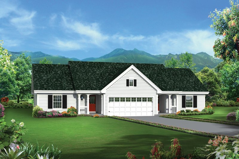 Colonial Exterior - Front Elevation Plan #57-636