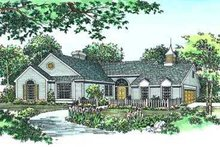 Dream House Plan - Traditional Exterior - Front Elevation Plan #72-109