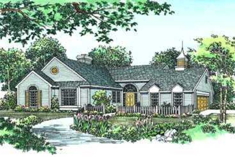 Traditional Exterior - Front Elevation Plan #72-109 - Houseplans.com