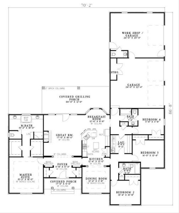 Traditional Floor Plan - Main Floor Plan Plan #17-648