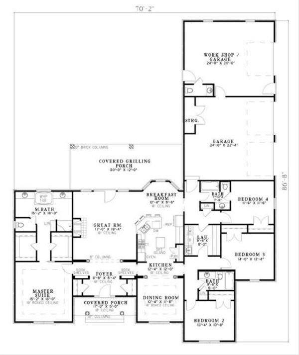 Traditional Floor Plan - Main Floor Plan #17-648