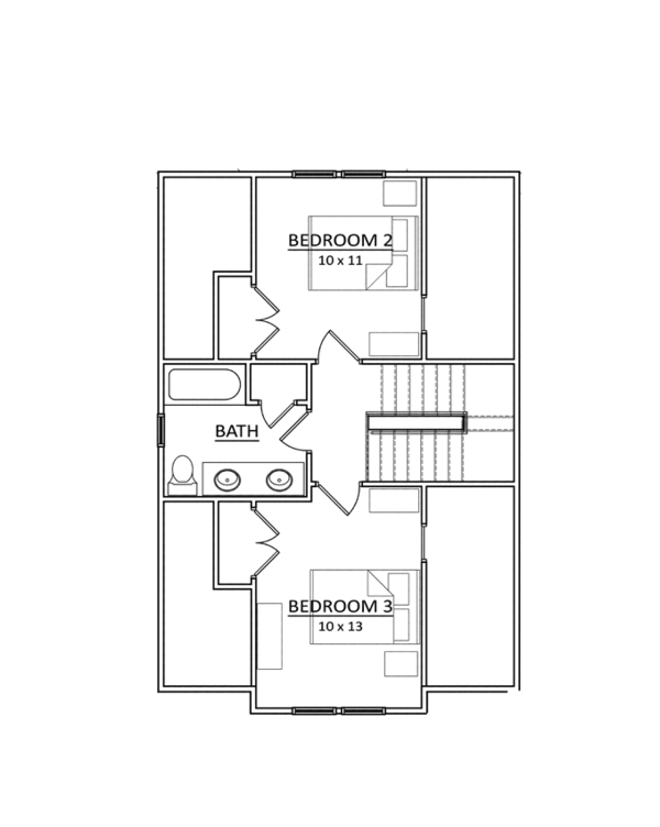 Craftsman Floor Plan - Upper Floor Plan Plan #936-4