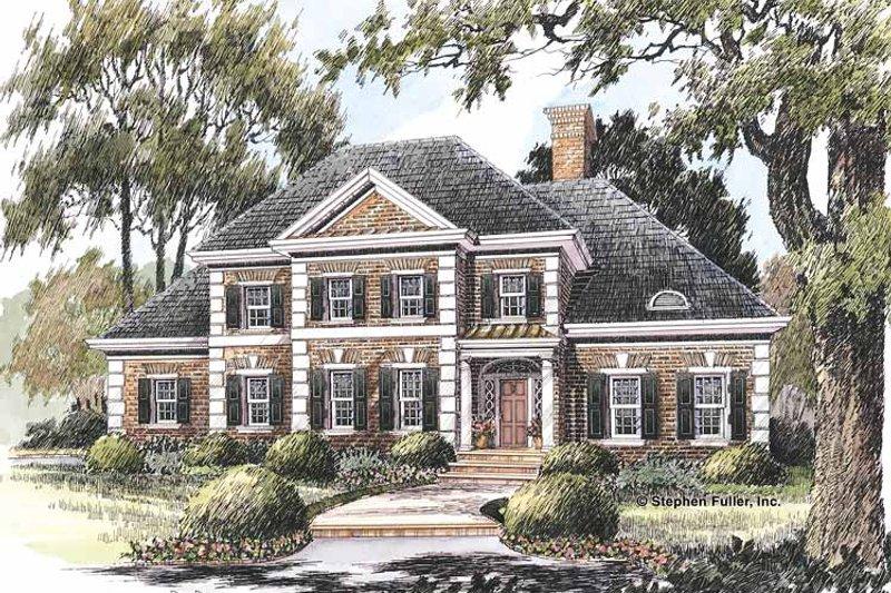 Colonial Exterior - Front Elevation Plan #429-211 - Houseplans.com