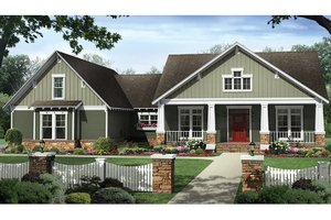 House Plan Design - Craftsman Exterior - Front Elevation Plan #21-438