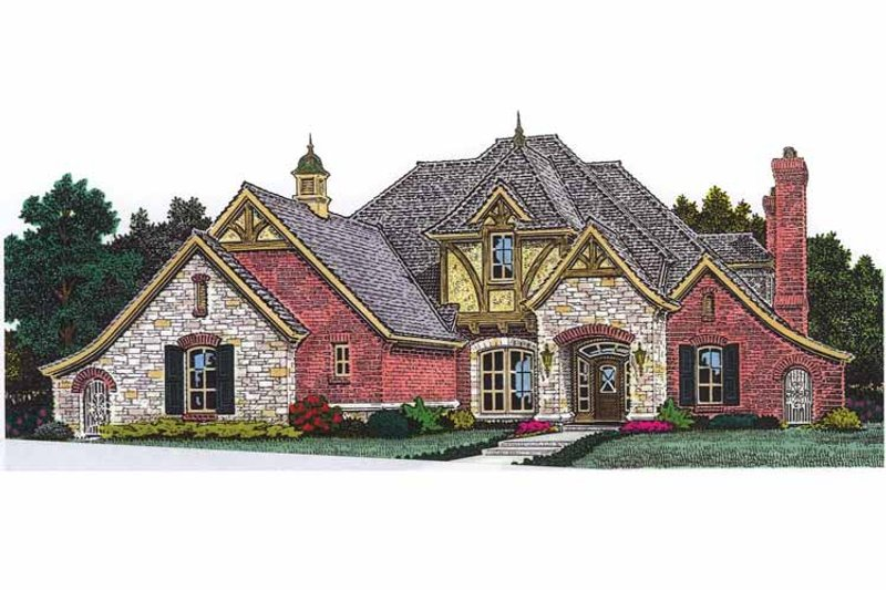 Country Exterior - Front Elevation Plan #310-1252