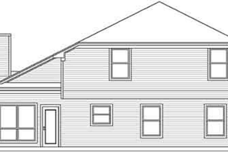 Traditional Exterior - Rear Elevation Plan #84-211 - Houseplans.com