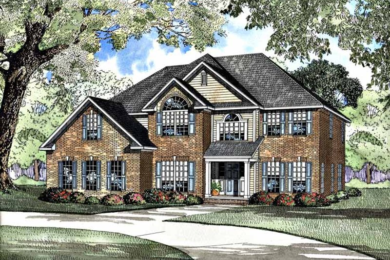 Dream House Plan - Traditional Exterior - Front Elevation Plan #17-3251
