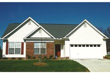 Colonial Exterior - Front Elevation Plan #1053-58
