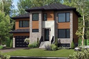 Contemporary Style House Plan - 3 Beds 1 Baths 1546 Sq/Ft Plan #25-4281 Exterior - Front Elevation