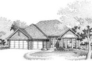 European Style House Plan - 4 Beds 2 Baths 1840 Sq/Ft Plan #310-183 Exterior - Front Elevation