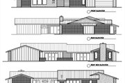Modern Style House Plan - 3 Beds 3.5 Baths 3392 Sq/Ft Plan #449-15 Exterior - Other Elevation
