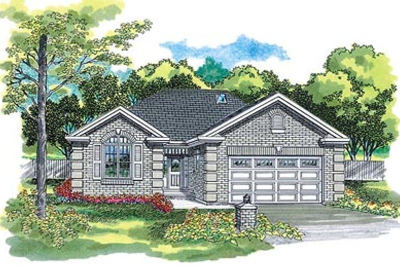 House Blueprint - European Exterior - Front Elevation Plan #47-376