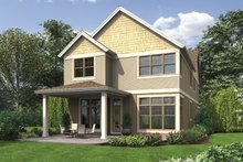 House Plan Design - Craftsman Exterior - Rear Elevation Plan #48-903