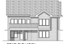 Dream House Plan - Ranch Exterior - Rear Elevation Plan #70-774