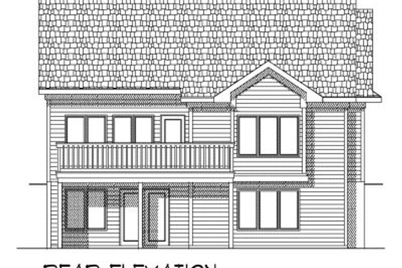 Ranch Exterior - Rear Elevation Plan #70-774 - Houseplans.com