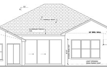 Mediterranean Exterior - Rear Elevation Plan #1058-36