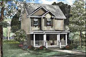 Home Plan - Country Exterior - Front Elevation Plan #17-3176