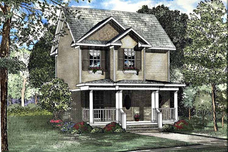 Country Exterior - Front Elevation Plan #17-3176