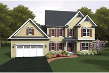 Colonial Exterior - Front Elevation Plan #1010-46