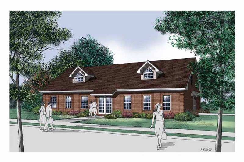 Traditional Exterior - Front Elevation Plan #45-424