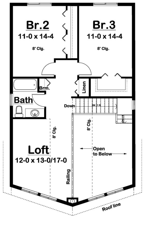 House Plan Design - Country Floor Plan - Upper Floor Plan #126-223