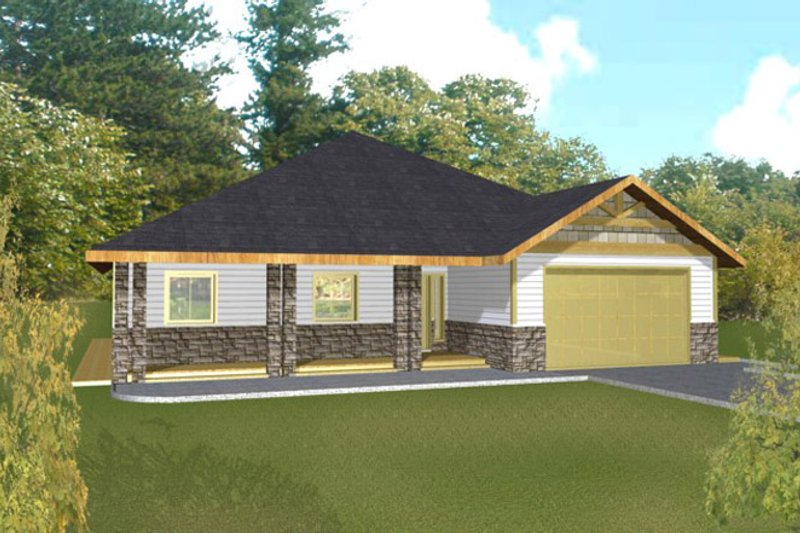House Plan Design - Traditional Exterior - Front Elevation Plan #117-834
