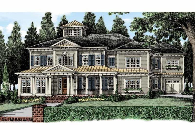 Classical Exterior - Front Elevation Plan #927-481 - Houseplans.com