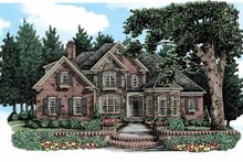 Country Exterior - Front Elevation Plan #927-366