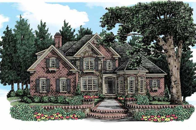 House Plan Design - Country Exterior - Front Elevation Plan #927-366