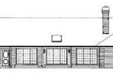 House Blueprint - Traditional Exterior - Rear Elevation Plan #72-157