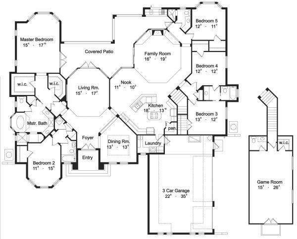 European Floor Plan - Main Floor Plan #417-380